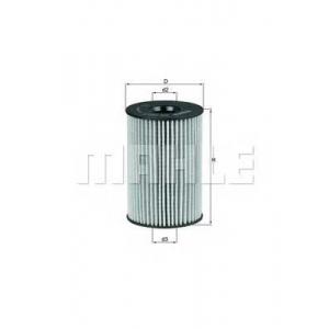 KNECHT OX 353/7D Фильтр масла вставка