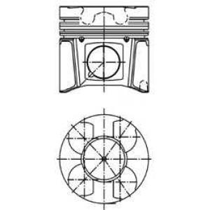 Поршень в комплекте на 1 цилиндр, 2-й ремонт (+0,5 40079620 kolbenschmidt -