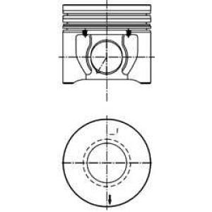 KOLBENSCHMIDT 40172600 Поршень в комплекте на 1 цилиндр, STD