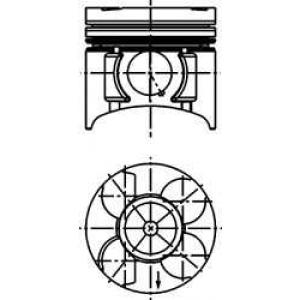 40391610 kolbenschmidt Поршень OPEL ASTRA Наклонная задняя часть 1.7 DTI 16V