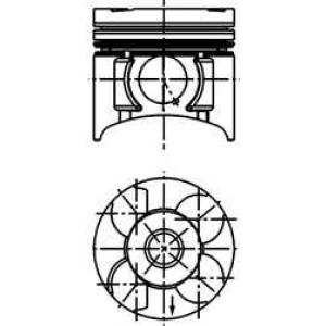 KOLBENSCHMIDT 40392620 Поршень в комплекте на 1 цилиндр, 2-й ремонт (+0,50)