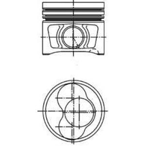 KOLBENSCHMIDT 40408620 Поршень VW 81.51 BPW/BMM/BMP/BSS/BWW/CBHA (CYL 1-2) (пр-во KS)