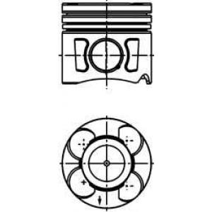 40659610 kolbenschmidt Поршень FIAT PUNTO GRANDE PUNTO Наклонная задняя часть 1.3 D Multijet