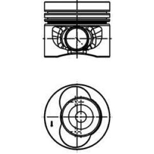 Поршень VW 81.51 2.5TDI BJL/BJM/CECA/CECB (пр-во K 40683620 kolbenschmidt -
