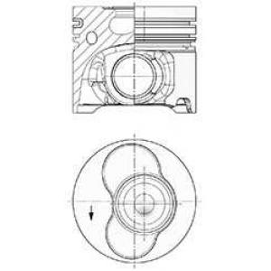 KOLBENSCHMIDT 41091600 Поршень VAG 81.01 AXD/AXE/BAC/BLJ/BLK (CYL 1-2) (пр-во KS)