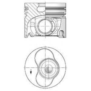 KOLBENSCHMIDT 41093600 Поршень в комплекте на 1 цилиндр, STD