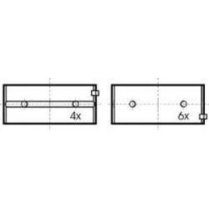 KOLBENSCHMIDT 77127618 Вкладиші корінні комплект CHRYSLER/PEUGEOT/ROVER
