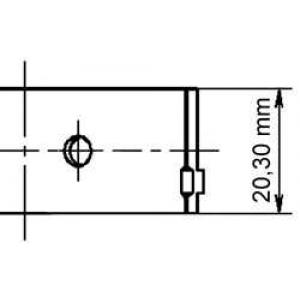 Подшипник скольжения PL 0,50 2,0 C20NE X20XEV 77268620 kolbenschmidt -