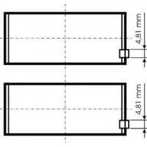 подшипник скольжения PL 0,25 (MIDR06.20.45) 77844610 kolbenschmidt -