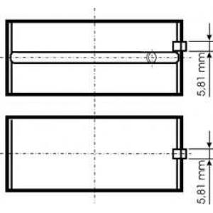 KS 77846600 Подшипник скольжения HL STD (MIDR06.20.45/23.56)