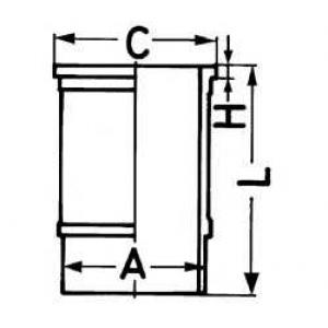 88524110 kolbenschmidt Гильза цилиндра PEUGEOT 504 седан 1.9 D (M20)