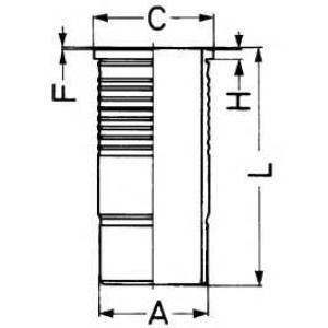 Гильза цилиндра 89087110 kolbenschmidt - VOLVO F 10  F 10/280