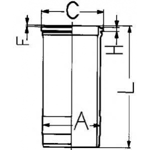 Гильза цилиндра 89088110 kolbenschmidt - SCANIA 3 - series  93 M/220