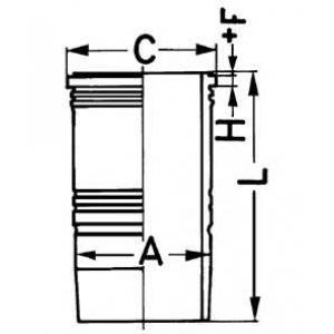 Гильза цилиндра 89093110 kolbenschmidt - MAN F 90  19.462 F,19.462 FL
