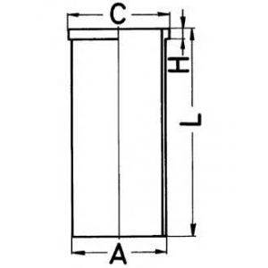 Гильза цилиндра 89193190 kolbenschmidt - MERCEDES-BENZ 190 (W201) седан D 2.0 (201.122)