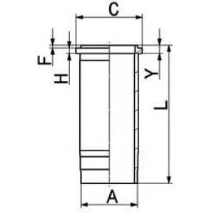 Гильза цилиндра 89399110 kolbenschmidt - VOLVO F 12  F 12/360