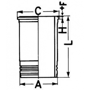 гильза без уплотнений (BF4/BF6M1013) 89409110 kolbenschmidt -