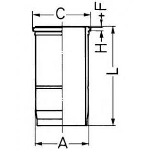 Гильза цилиндра 89427110 kolbenschmidt - VOLVO FL 10  FL 10/320