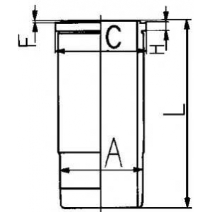 Гильза цилиндра 89431110 kolbenschmidt - VOLVO FL 10  FL 10/320