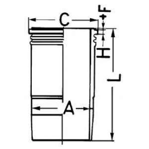 Гильза цилиндра 89460110 kolbenschmidt - VOLVO FH 12  FH 12/340
