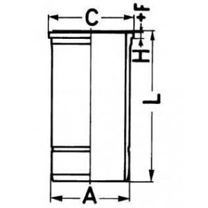 Гильза цилиндра MB 130.0 OM501LA/OM502LA (БЛОК БЕЗ 89594110 kolbenschmidt -