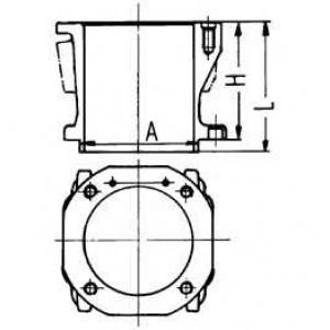 Гильза компрессора 100,0 STD OM-402/501/2LA,541/2L 89597110 kolbenschmidt -