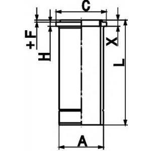 Гильза цилиндра 89846110 kolbenschmidt - MERCEDES-BENZ ACTROS MP2 / MP3  1832, L, LL