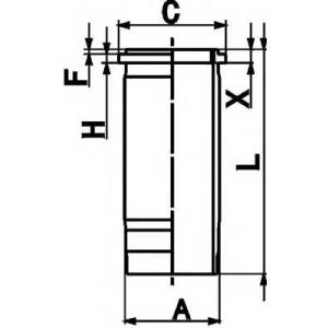 KS 89861110 Гільза циліндра