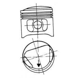 Поршень 90204620 kolbenschmidt - FORD ESCORT V (GAL) Наклонная задняя часть 1.6
