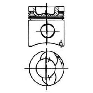 Комплект поршневых колец 90482600 kolbenschmidt -