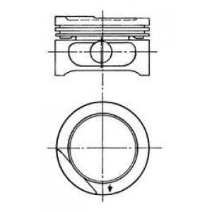 Поршень 90556623 kolbenschmidt - OPEL CORSA A Наклонная задняя часть (93_, 94_, 98_, 99_) Наклонная задняя часть 1.6 GSI
