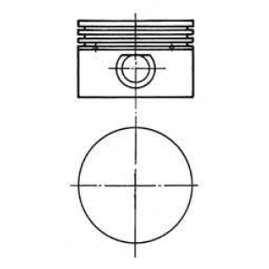 Поршень с гильзой компрессора (D=90мм) 90843600 kolbenschmidt -
