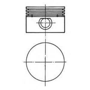 Поршень с гильзой компрессора (D=90мм) 90843700 kolbenschmidt -