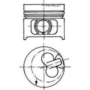 KOLBENSCHMIDT 90858600 Поршень в комплекте на 1 цилиндр, STD