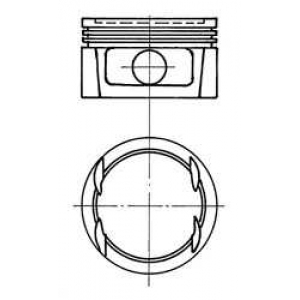 Поршни 2.0 16V - Vectra/Kadet/Astra  -95 91023710 kolbenschmidt -