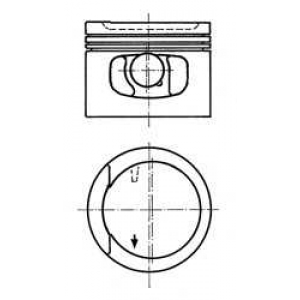 KOLBENSCHMIDT 91128620 Поршень, комплект VW 2E/ABK 2,0 -01