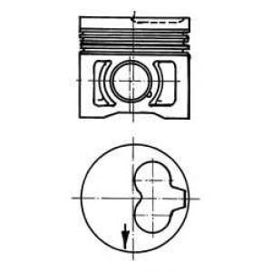 KOLBENSCHMIDT 91386630 Поршень AUDI/VW 80.5 1.9D/2.4D 1X/1Y/3D/AAS/AAB (пр-во KS)