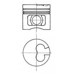Поршень 91780620 kolbenschmidt - FORD ESCORT IV (GAF, AWF, ABFT) Наклонная задняя часть 1.8 D