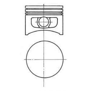 Поршень 92054700 kolbenschmidt - FORD FIESTA III (GFJ) Наклонная задняя часть 1.1