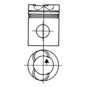 Поршень 93152600 kolbenschmidt - SCANIA 2 - series  82 M/210