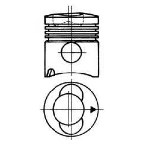 поршень (BF4L913/BF6L913) 93315610 kolbenschmidt -