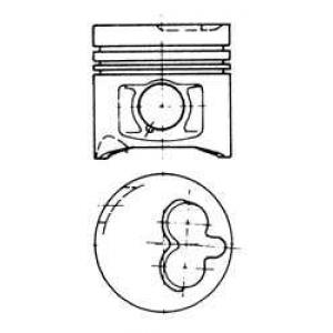 Поршень без колец 93.0 (+0.60) Fiat 2.5TD 8140.67. 93883730 kolbenschmidt -