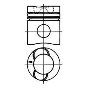 Поршень 93938600 kolbenschmidt - SCANIA 2 - series  R 142 H