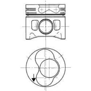 KOLBENSCHMIDT 94430720 Поршень в комплекте на 1 цилиндр, 2-й ремонт (+0,50)