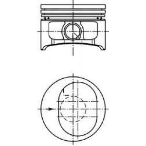 Кольцо поршневое маслосъемное номинал/oe 94865600 kolbenschmidt -