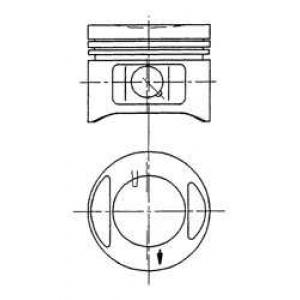Поршень в комплекте на 1 цилиндр, 1-й ремонт (+0,4 94870710 kolbenschmidt -