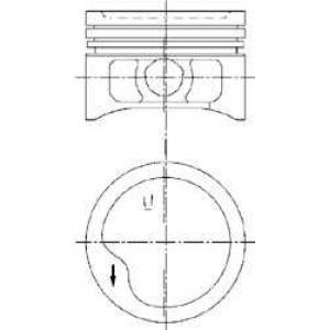 97360620 kolbenschmidt Поршень OPEL CORSA Наклонная задняя часть 1.4 Si