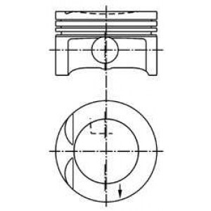 Поршень 99438600 kolbenschmidt - OPEL ASTRA F (56_, 57_) седан 1.8 i 16V