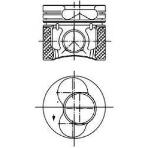 Поршень 99470600 kolbenschmidt - AUDI A3 (8L1) Наклонная задняя часть 1.9 TDI