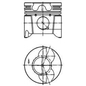 Поршень PSA 85,00 2,0HDi DW10ATED/DW10TD (пр-во Mo 99879601 kolbenschmidt -
